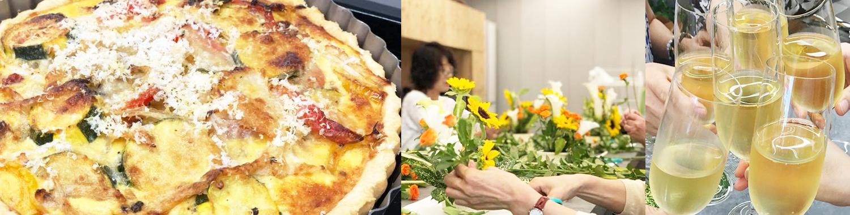 花と料理のおもてなし教室 color table