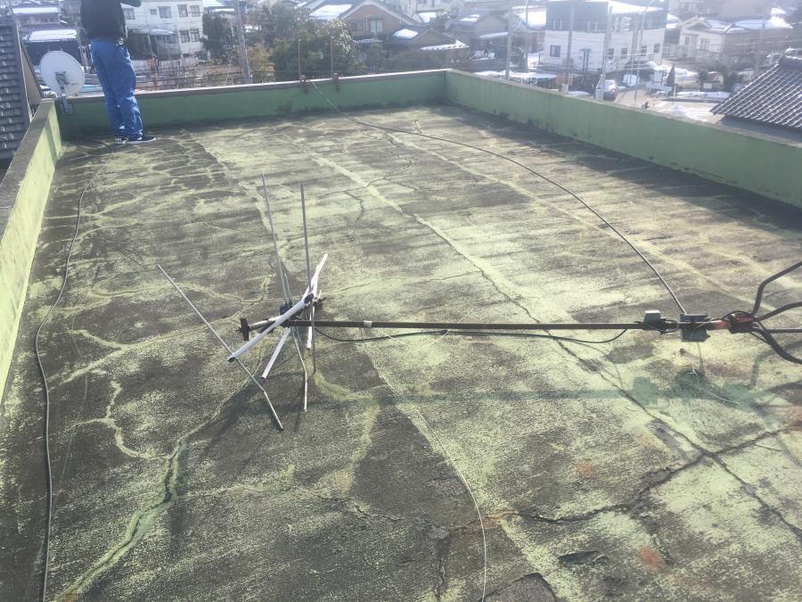 富山市防水工事の現地調査
