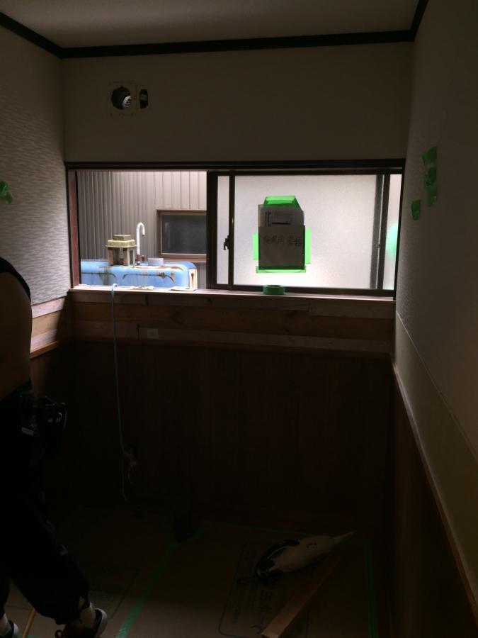 高岡市内でトイレリフォーム施工中です。