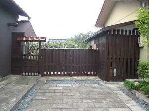 【E-0047】木塀塗装工事