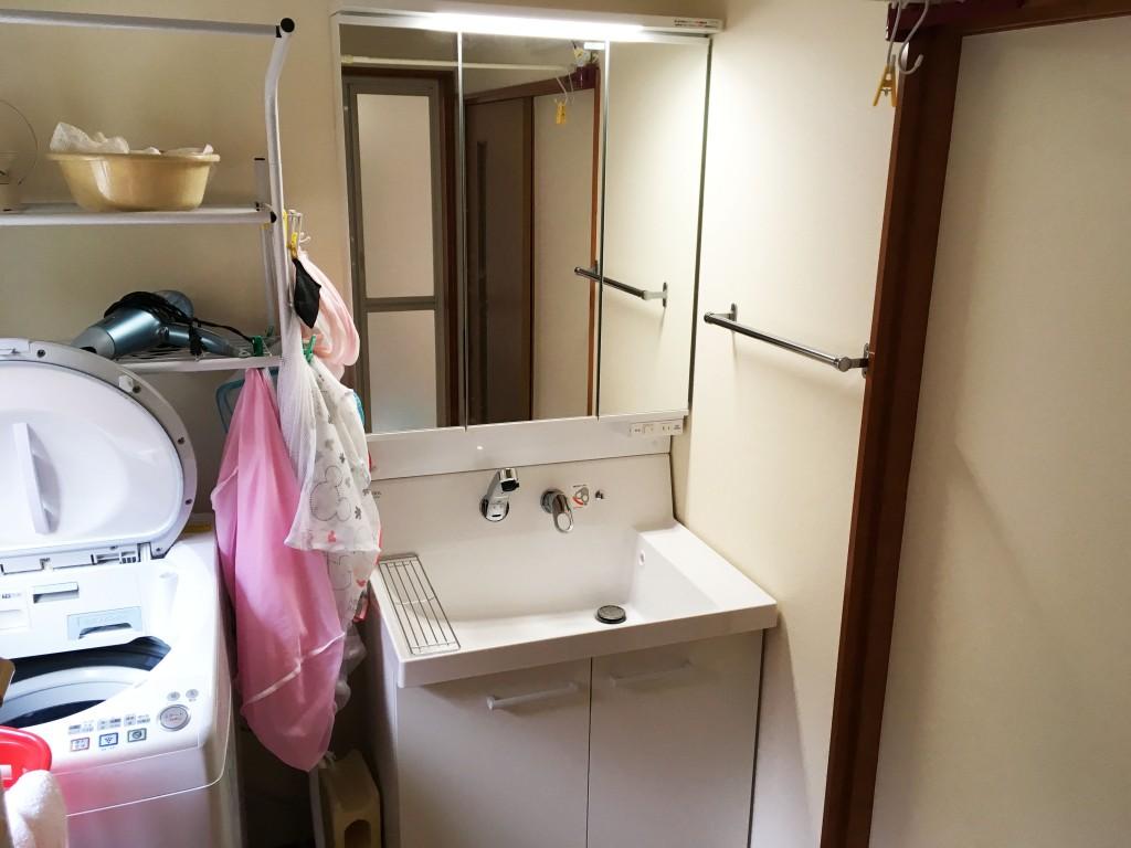 【仕様】洗面化粧台…LIXIL ピアラ W750 色:ホワイト